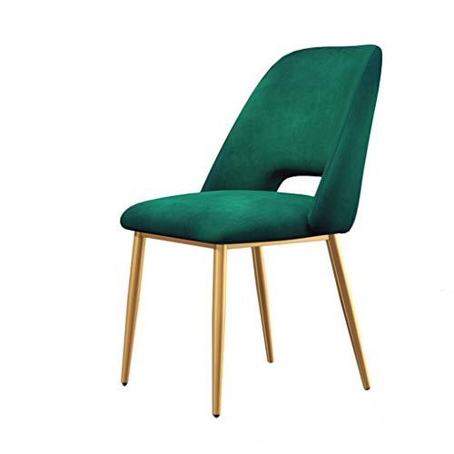 Meubles-Tuqia Chaise de salle à manger en métal, tabouret de dressage de chambre à coucher de chaise de salon de café de tabouret de bar d'or, 43 * 46 * 58CM Living Furniture Chaises (Color : #5)