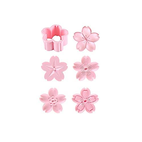 Juudoiie Cherry Blossom Cookie Molde galletas y arándanos Bollos al vapor en relieve en forma de pastelería en forma de casa Herramientas for hornear Cherry Blossom Cookie Molde Dibujos animados linda
