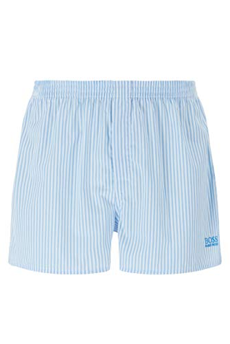 BOSS Herren NOS Boxer CW 2P Pyjama-Shorts aus Baumwoll-Popeline im Zweier-Pack