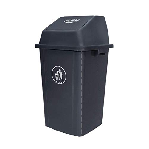 LSNLNN Papelera de Basura, Latas de Basura, Cubos de Basura con Tapa, Gran Patio Exterior de Color Múltiple Plástico de Plástico Capacidad de Cubo de Basura: 60L, 100L de Interior/Exterior,Gris,100