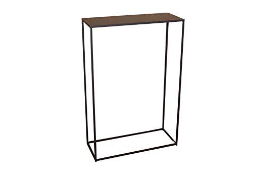 Caleido Mali Konsolentisch Sideboard Beistelltisch Konsole Flurtisch Metall Dunkelbraun | B/T/H 50 cm / 20 cm / 75 cm