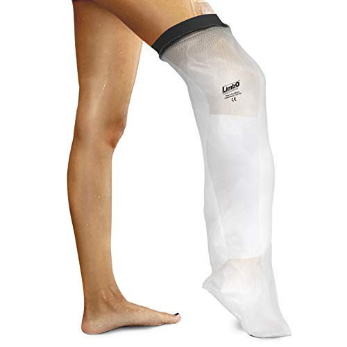 LimbO Waterproof Protectors Cast and Dressing Cover - Adult Half Leg (M80: 41-54 cm Above Knee Circ. (5'5–6'0))