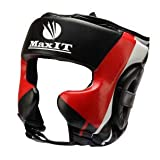 MaxIT Headguard for Boxing, MMA, Muay Thai, Karate, Martial Arts   Heavy Duty Professional Protective Headgear is Comfortable, Breathable & Adjustable   Perfect Choice for Men, Women & Kids