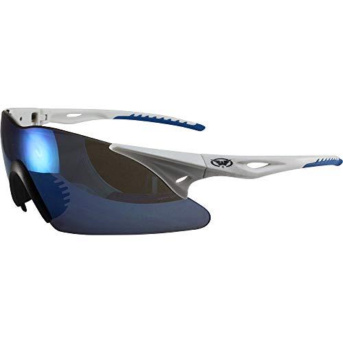 Global Vision - Occhiali da Sole da Motocicletta con Montatura G-Tech, Lenti Blu ANSI Z87.1+