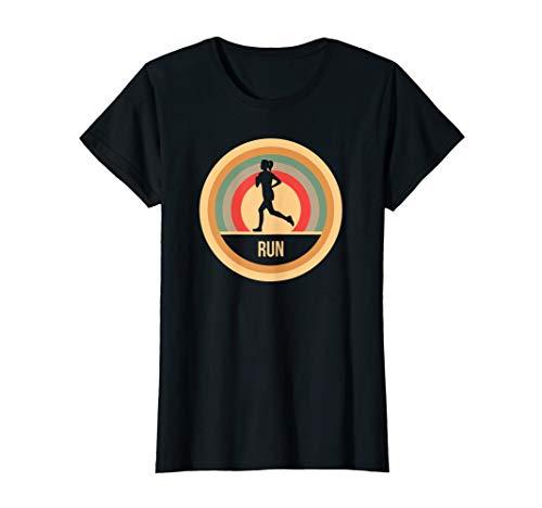 Damen Retro Vintage Laufen Geschenk für Läufer & Jogger T-Shirt