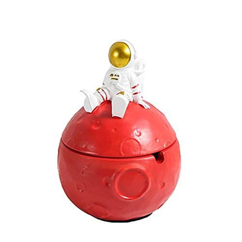 VIMI Cenicero Moderno Cenicero con Tapa Astronauta Astronauta para Cigarrillos a Prueba de ceniceros a Prueba de ceniceros para jardín Patio y hogar Cenicero para Patio Exterior casero