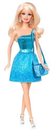 Poupée Barbie Glamour : Tenue de soirée bleue