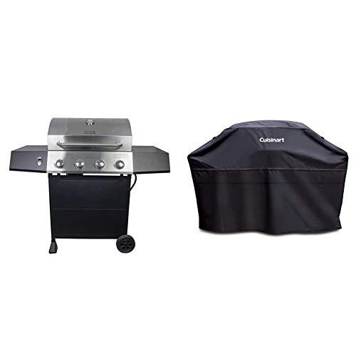 "Cuisinart CGG-7400 Propane, 54 Inch, Full Size Four-Burner Gas Grill & GC-60B Heavy-Duty Barbecue Grill Cover, 60"", Black, Cover-60 Grills Propane"