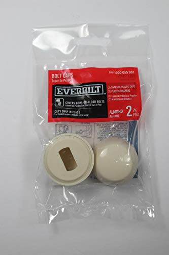 Everbilt Toilet Bolt Cap in Almond