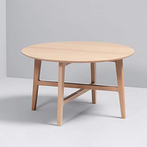 SACKit – Nordic Couchtisch/Kaffetisch - Massive Weißes Eichenholz - Runder moderner Couchtisch mit einem Skandinavischen Design - Kombinierbar mit dem Nordic Loungestuhl und Beistelltisch
