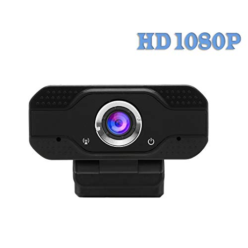 itchoate Webcam Full HD 1080P 30FPS Wide Angle High Image Quality Built-in Microphone USB Camera Noise Reduction (Requires Work at Home) Plug and Play Best Universal Compatibility - Black