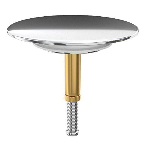 MYLAVABO Premium universal Badewannenstöpsel, ø 72mm Stöpsel für den üblichen Abfluss der Badewanne, mit Doppeldichtung, Abfluss-Stopfen aus Messing mit Chrom-Oberfläche, Rostfrei