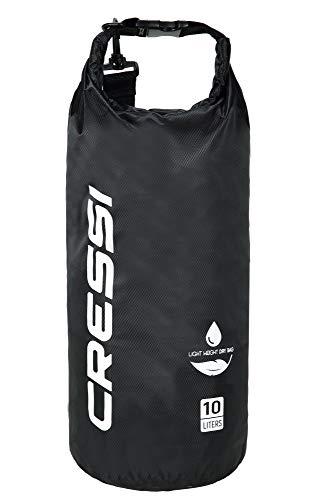 Cressi Dry Bag, Sacca/Zaino Impermeabile per attività Sportive Unisex-Adulto, Nero, 10 L