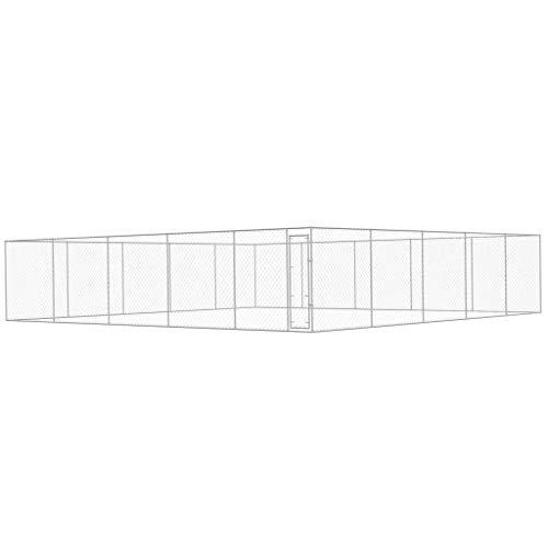 vidaXL Hundezwinger Verzinkter Stahl 10x10x2m Hundehütte Hundekäfig Hundehaus