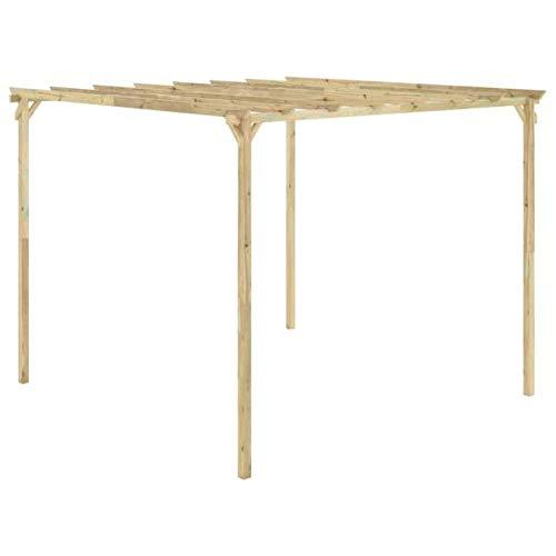 vidaXL Pérgola de jardín de madera de pino impregnada 294x294x220 cm