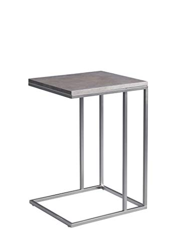 HomeTrends4You Cora Beistelltisch/Laptop-Tisch, MDF Dekor Keramikoptik, grau, 38x43cm, Höhe 62cm