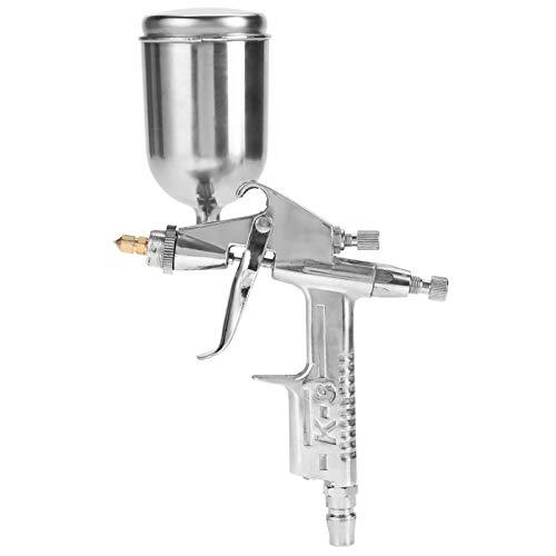 Mini pistola de pulverización de aire de alimentación por gravedad, boquilla profesional de 0,5 mm 125 ml, mini pistola de pulverización neumática para reparación de pintura de automóviles