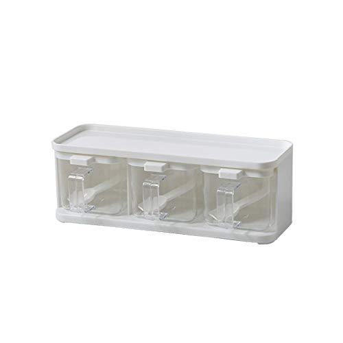 Jhtadva Küchenschublade Kunststoff Gewürzbox Kombinationsset Haushalt Pfeffer Pulver Aufbewahrungsbox, A
