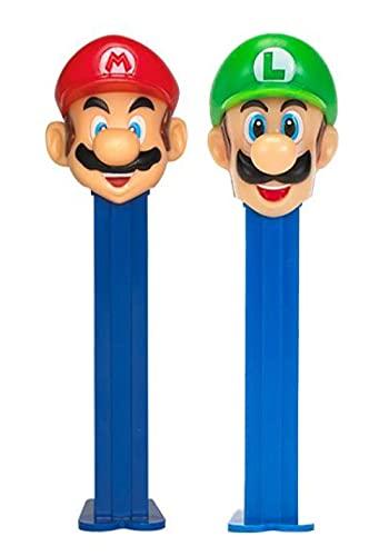 Mario Pez Set – Mario And Luigi Pez Dispensers With 2 Candy Refills | Pez Nintendo Mario Bros Party Favors, Super Mario…