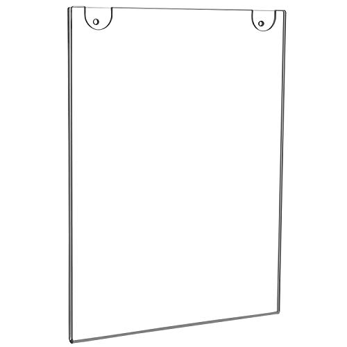 Poster MaxGear Acrylic Sign Holder 4 x 6 Sign Holders Plastic Frames Clear Frame 4x6 Wall Mount Sign Holder Wall Sign Holder with 3M Tape Adhesive Flyer Document for Plexiglass 6 Pack Door