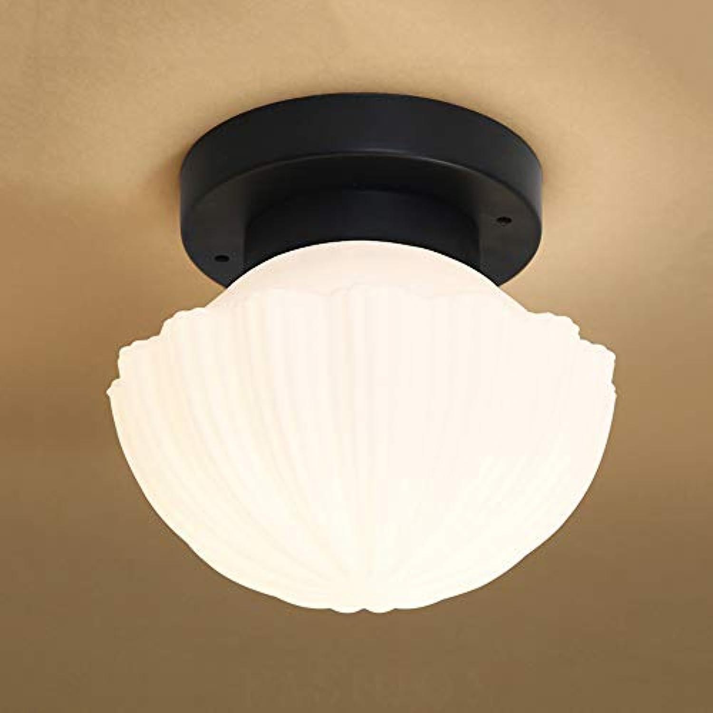 QFFL xidingdeng Saug-Deckenleuchte, Mode einfache Korridor Licht Runde LED Hintergrund Wand Deckenleuchte (Farbe   Wei)