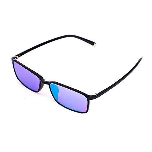 Farbenblind Brille Blau, Grün, Lila Farbenblindheit Korrekturbrillen für Männer und Frauen,Fullframe