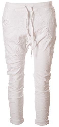 Basic.de Boyfriend-Hose im Joggpant Style Melly & CO 8175 Weiß XS
