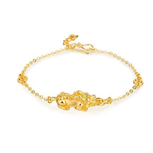 ZQP Men's Brave Bracelet, Vintage 3D Hard Gold Plated Bracelet