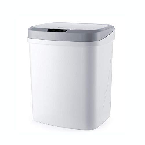 L@YC Für Die Entsorgung Von Sanitärabfällen - Automatischer Elektronischer Abfallbehälter Mit Infrarot-Bewegungssensor - Intelligente Abfallentsorgung Ohne Berührung,Weiß