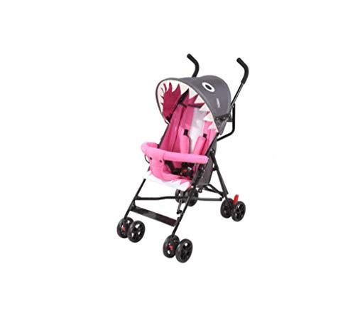 Kinderwagen, Sommer, ultraleicht, tragbar, kann sitzen, halb liegend, Regenschirm Auto, klappbarer einfacher Kindertrolley, geeignet für 0 bis 3 Jahre alt, vierrädriger BB Trolley für Liegebuggys,A