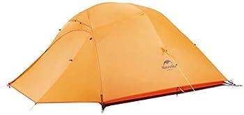 Naturehike Cloud-Up 3 Tente Ultra Légère 3 Personnes Tente pour Randonnée Camping Extérieur (210T Orange Améliorer)
