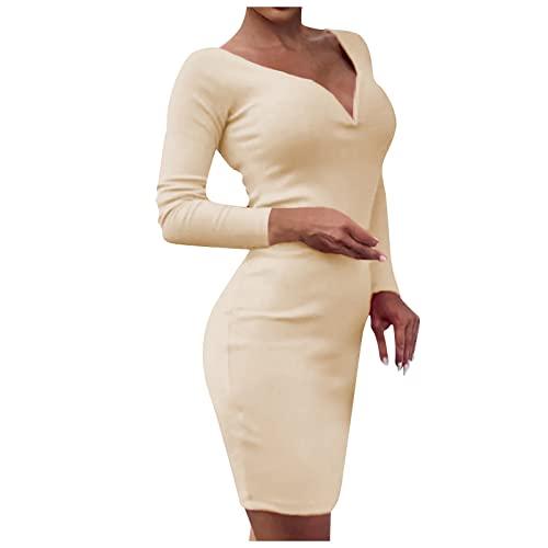 RMBLYfeiye Damen Elegant Langarm Kleider...