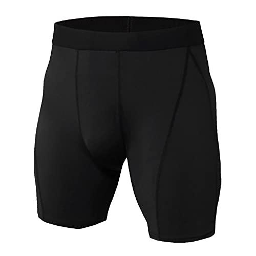 YANFANG Mallas Cortas De Camuflaje para Correr Secado RáPido Y AbsorcióN Humedad Hombres,Pantalones Grandes Pantalones Playa Hombres Gym Sports Deportivos,5-Negro,XL