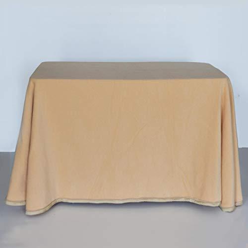 Lanovenanube - Falda Mesa Camilla Invierno Rectangular 70x110 - beig