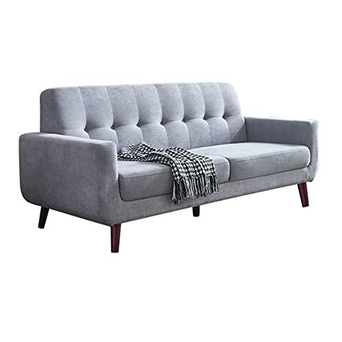 SHUJINGNCE Möbler förbeställ tyg vardagsrum soffa bekväm soffa 3-sits vardagsrum möbler lägenhet soffa soffbord 4 färger (färg: HQ 004 grå)