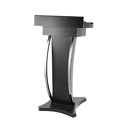 TnSok Stehendes Podium Einfache Moderne Konferenz Rede Präsentation Stand Kirche Rednerpult Mit Schublade Boden Podium Rede Rezeption (Color : White, Size : 112x56x48cm)