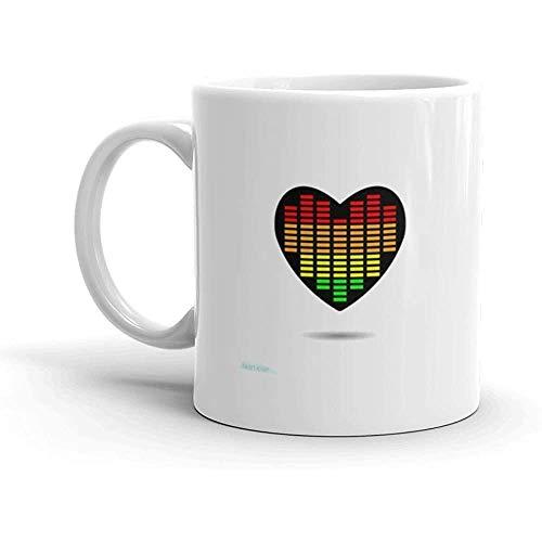 Taza Corazón Icono negro Símbolo de amor Ecualizador Ecualizador Escala en el Día de San Valentín Signo Emblema Estilo plano Gráfico y Copa web