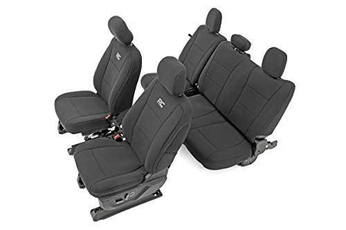 Rough Country Water Resistant Front and Rear Neoprene Seat Covers fits 15-20 F-150 | 17-20 F-250 | - 91018
