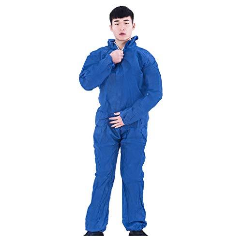 HULKY Einweg-Schutzanzug für Herren Damen Medical Isolation Clothing Schutzkleidung Wasserdicht Prävention Sicherheitsschutzkleidung Staubdichte EIN-Stücke 2er Set