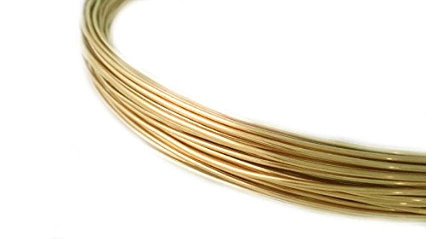 1 Ounce (42 Ft) Solid Red Brass Wire 20 Gauge, Half Round, Dead Soft - from Craft Wire