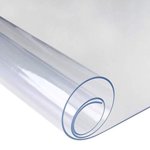 WedDecor Transparente Impermeable Acrílico Mantel Transparente Like Cristal Mesa Plástico Protector para Escritorios Muebles Comedor Mesas Superficie, 2mm Grueso - Transparente, 80cm x 140cm