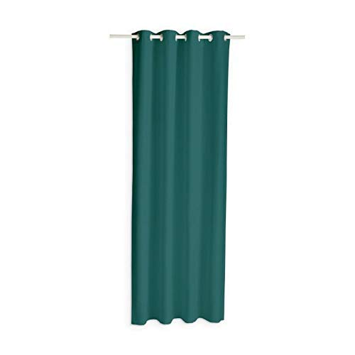 Today Rideau Occultant Vert Emeraude/ Polyester/ 140 x 260 cm