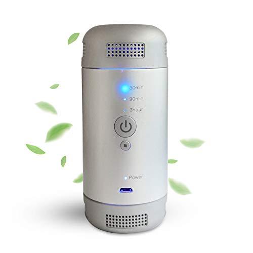 Mini purificatore d'Aria ozono pulitore dell'Aria, per Auto, Freezer, Deodorante, generatore di Aria rinnovata, per Frigorifero, scarpiera, casetta degli Animali Domestici, WC e Cucina - Portatile