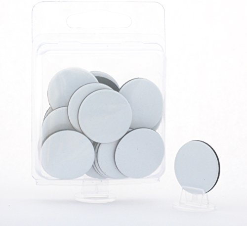 """Hedral Value Pack of 24 - Dry Erase - Reusable - Blank 1"""" Circle Board Game Chits Tiles Counters Markers DIY D&D"""