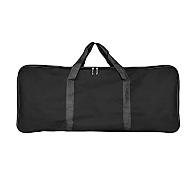 BBQ Tool Storage Bag, Thicken Oxford Grill Tool Carry Bag, Waterproof Outdoor Picnic Cooking Tools Bag for Camping Car Trip Outdoor (L(Black))