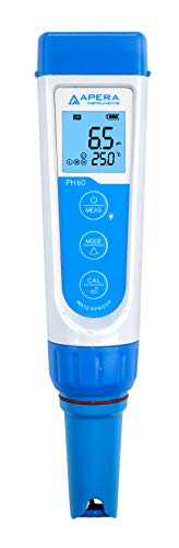 Apera Instruments AI311 Premium Series PH60 Waterproof pH Pocket Tester Kit, Replaceable Probe,...