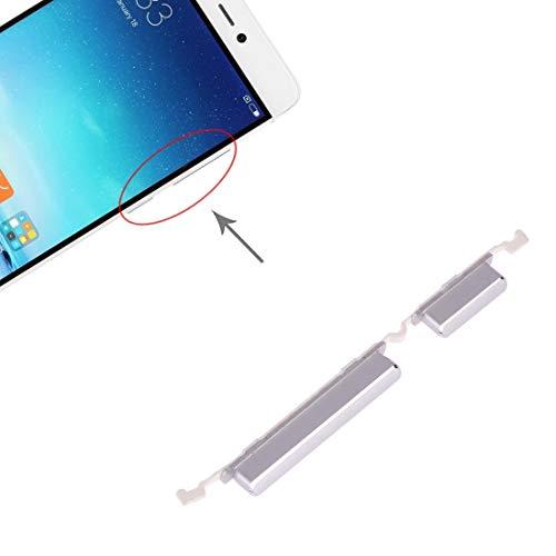 GGQQ ZDG Pulsante AYD Potenza e Volume Pulsante di Controllo for 5s Xiaomi Mi (Colore Rosa) (Color : Silver)
