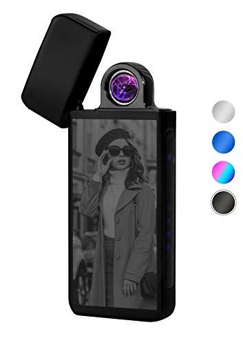TESLA Lighter T16 Turbo Lichtbogen-Feuerzeug, elektronisches USB Feuerzeug, Double-Arc Lighter, wiederaufladbar