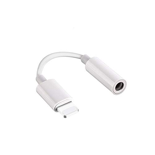 3.5mm Headphone Jack Adapter for iPhone 11/11 Pro Max/Xs/Xs Max/XR/iPhone 8/8 Plus/X/7/7 Plus, Music Control Function Supported