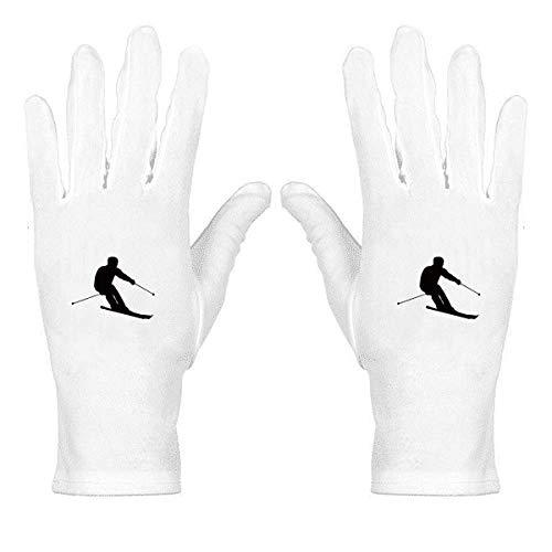 Guantes de protección de muñeca para deportes de invierno, color blanco